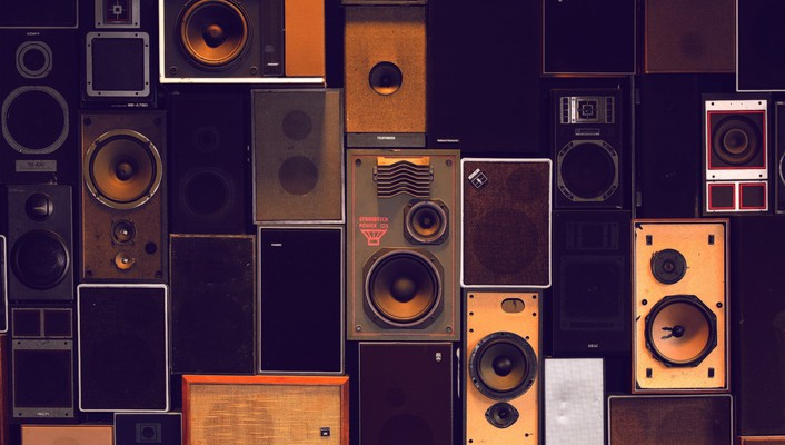 Collection of speakers wallpaper