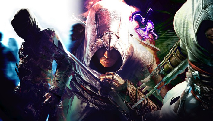 La ahad assassins creed blue green multicolor wallpaper
