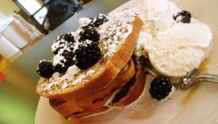 French toast with berries wallpaper