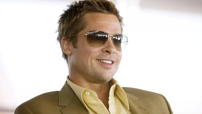 Brad pitt actors grin men sunglasses wallpaper