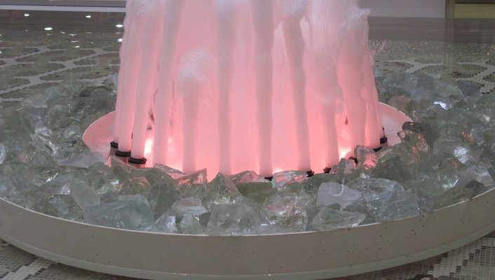 Pink fountains wallpaper