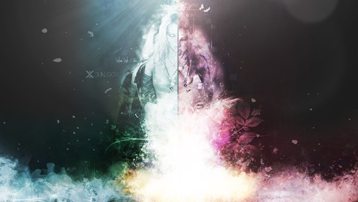 Abstract artwork collide collision digital art wallpaper