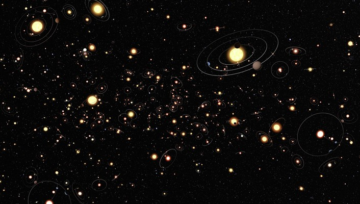 Sun outer space galaxies wallpaper
