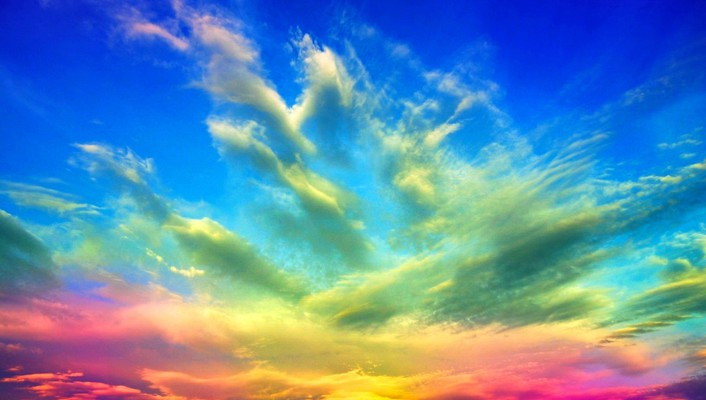Colors of clouds wallpaper