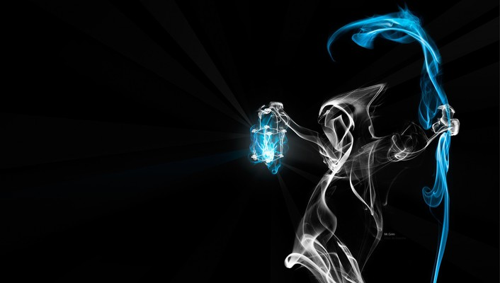 Grim reaper smoke wallpaper