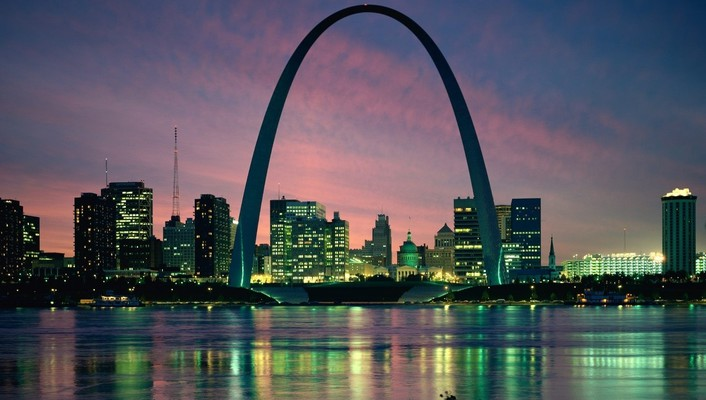 Cityscapes night architecture buildings st louis cities wallpaper
