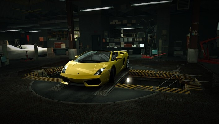 Speed lamborghini gallardo spyder world garage nfs wallpaper