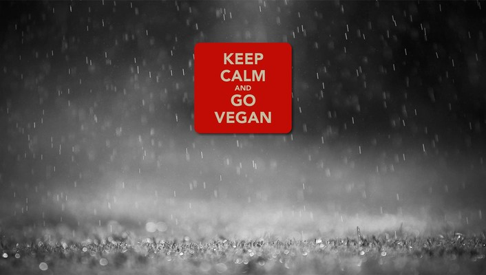 Keep calm and go vegan wallpaper