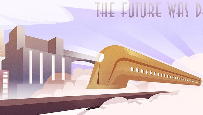 The future was deco wallpaper