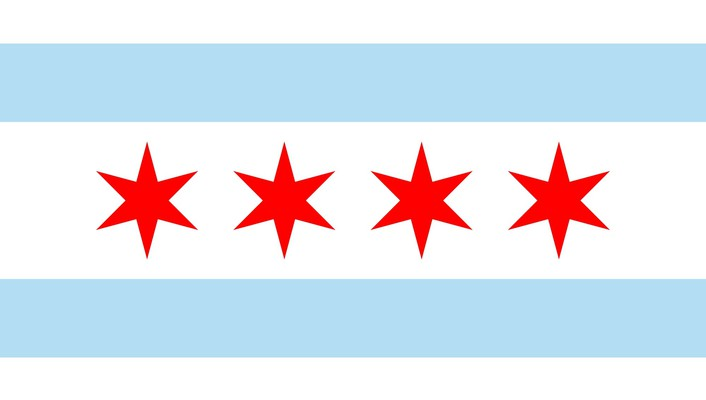 Chicago flag wallpaper
