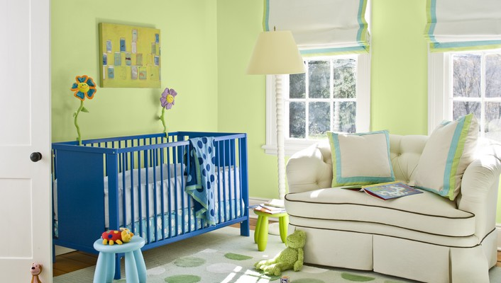Beautiful nursery wallpaper
