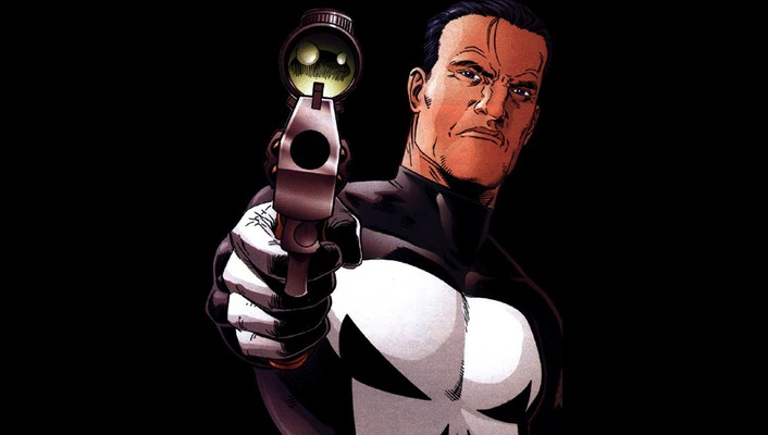 Punisher black background frank castle pointing gun wallpaper