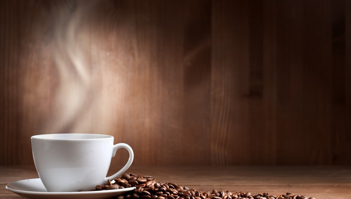 Fresh cup of coffee wallpaper