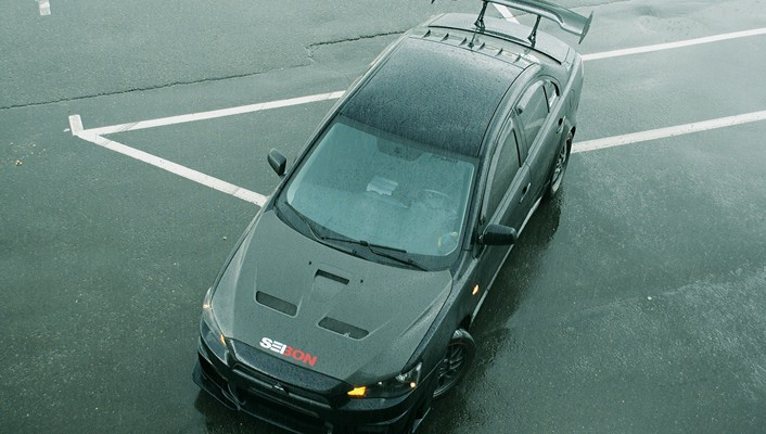 Cars mitsubishi lancer evolution x black wallpaper