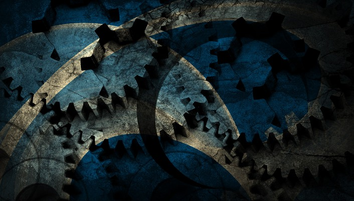 Blue cog grunge wallpaper