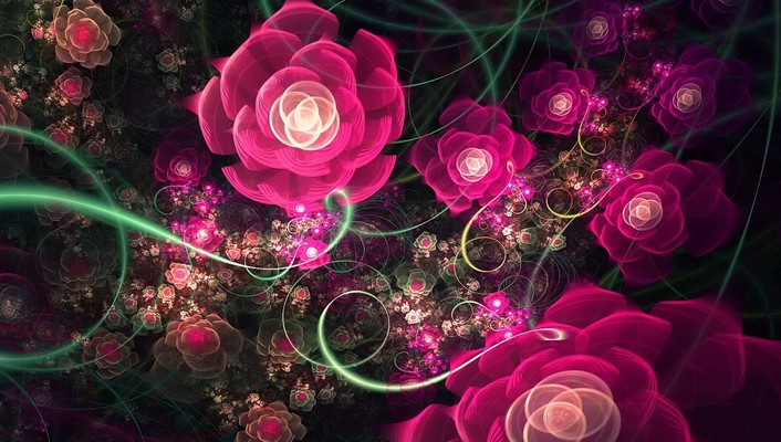 Fractal flower design wallpaper