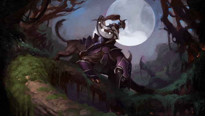 Video games heroes luna dota 2 wallpaper