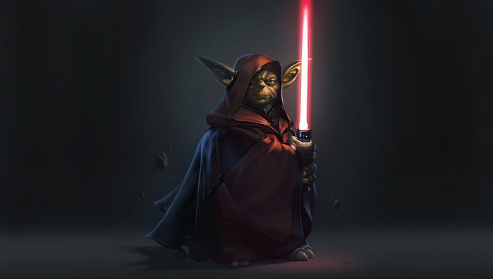 Star wars fantasy art light sabers darth yoda wallpaper