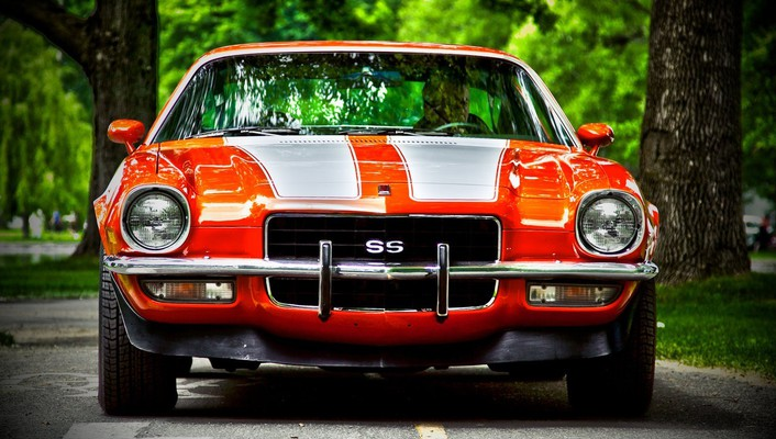 Tuning camaro ss collectors headlights tire tracks wallpaper