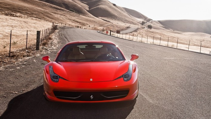 Cars ferrari red 458 italia wallpaper