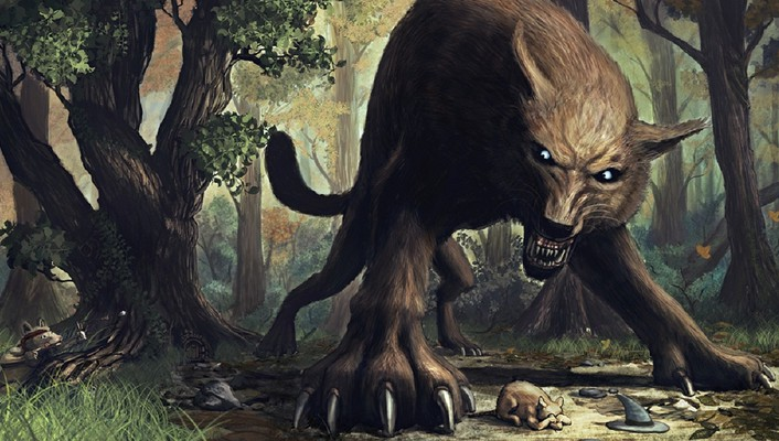 Creatures fantasy art forests wolves wallpaper