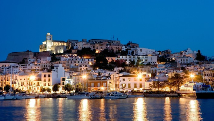 Night lights ibiza wallpaper