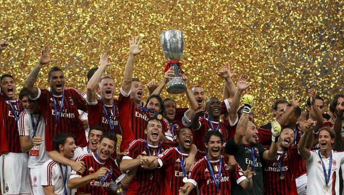 Sports soccer ac milan football teams wallpaper