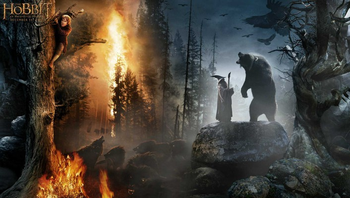 Crows movie posters bilbo baggins burning wolves wallpaper