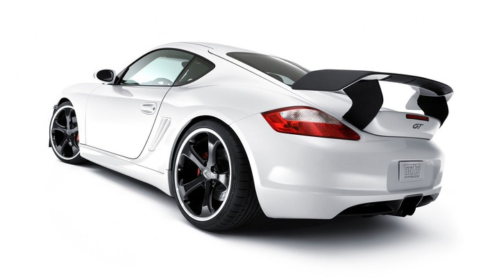 White porsche cayman s wallpaper