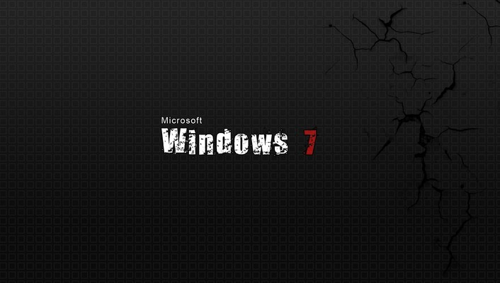 Windows 7 gray text wallpaper