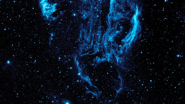 Blue nebulae outer space stars wallpaper