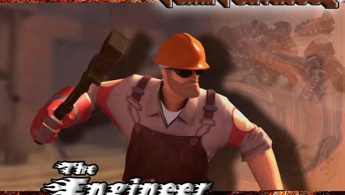 Video games engineer tf2 team fortress 2 engineers wallpaper
