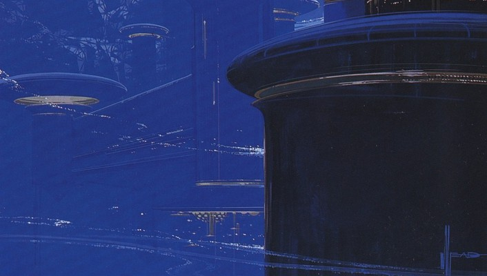 Futuristic artwork syd mead wallpaper