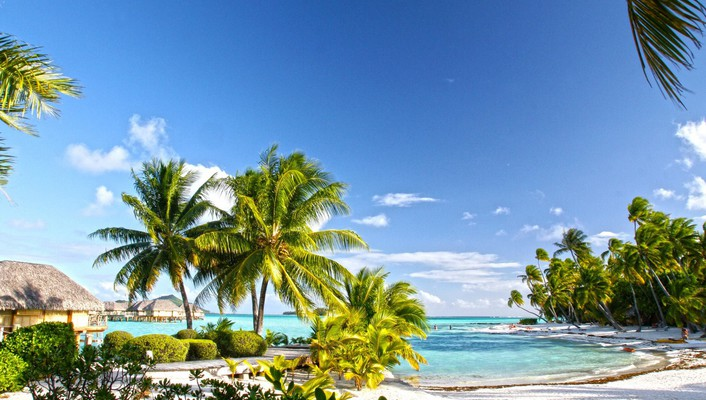 Beautiful pearl beach resort bora tahiti wallpaper
