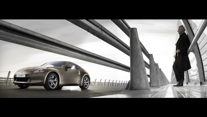Cars bridges nissan 370z widescreen wallpaper