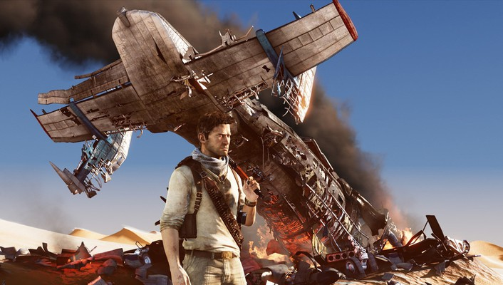 Desert crash nathan drake adventure uncharted 3 wallpaper