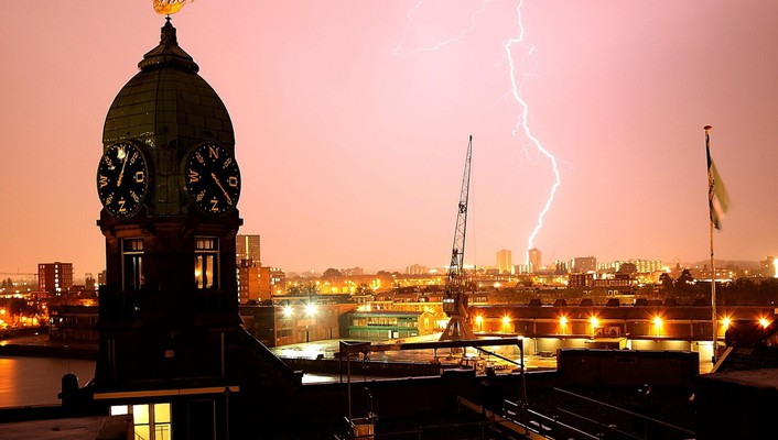 Cityscapes architecture clocks national geographic lightning morocco wallpaper