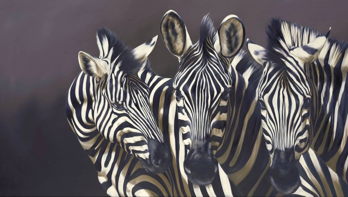 Zebras artwork wallpaper