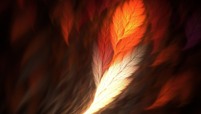 Feather art wallpaper