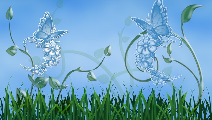 Butterflies illustration wallpaper