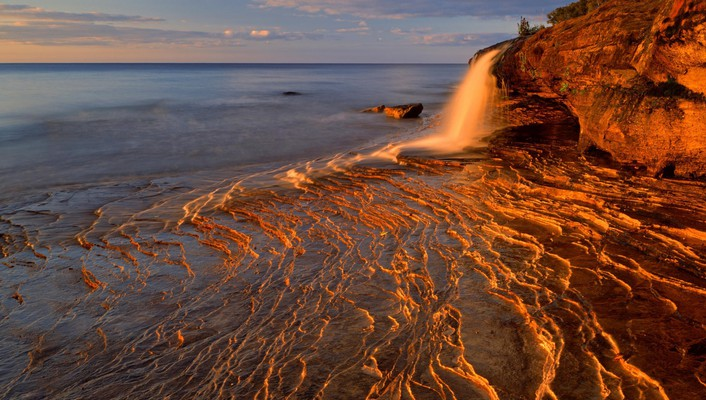 Landscapes rocks national michigan lakes lake superior wallpaper