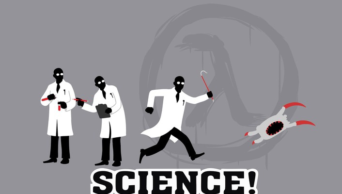 Halflife headcrab funny minimalistic science wallpaper