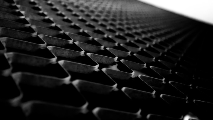 Metal patterns grid grayscale macro gates wallpaper