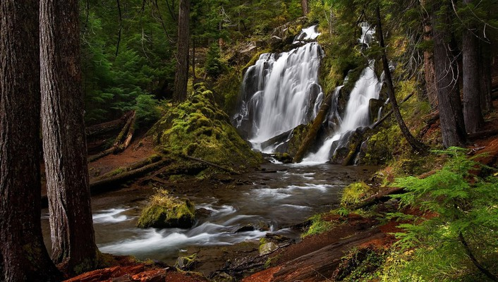 Falls national oregon southern creek wallpaper