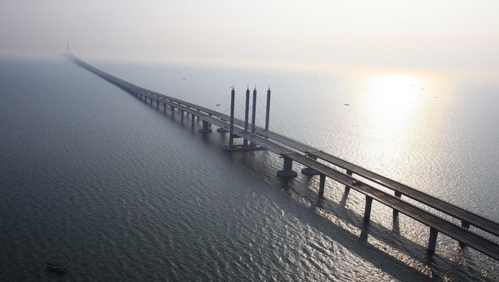 Awesome long bridge wallpaper