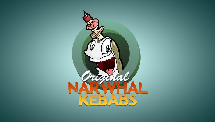 Narwhal shish kabob wallpaper