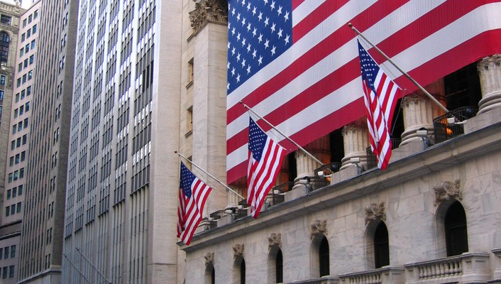 American flag new york city stock exchange usa wallpaper