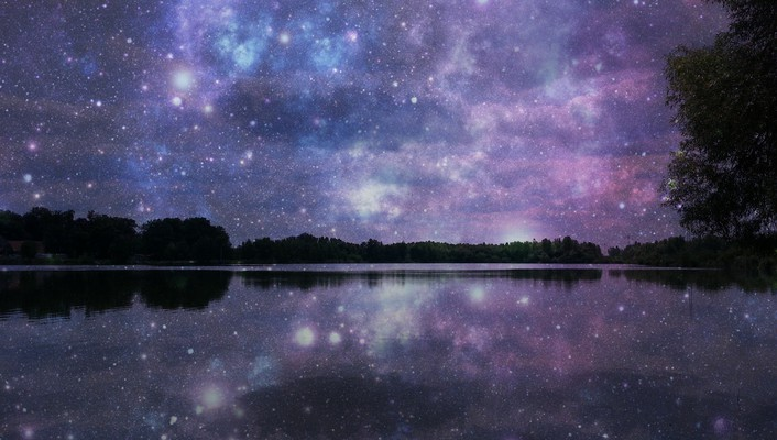 Full of stars reflected wallpaper