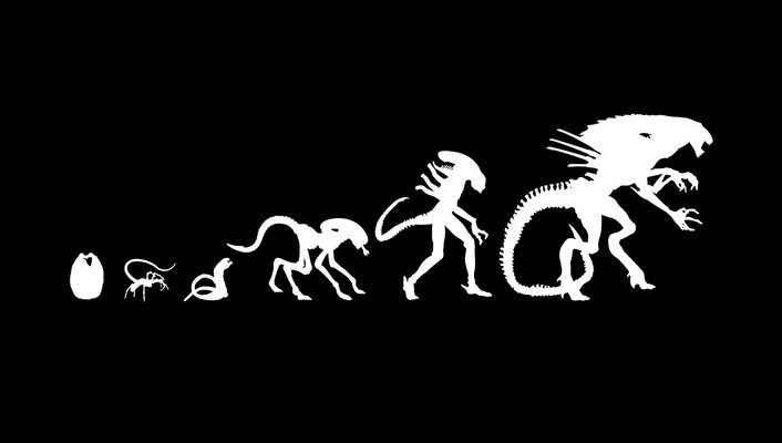 Alien evolution wallpaper