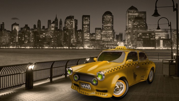 New york city taxi cab wallpaper
